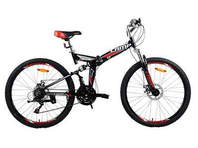 "Best Folding Bikes Camp 26"" Alloy Folding Mountain Bike"