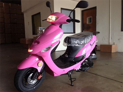 Best 50cc Scooters Tao ATM Hot Pink Scooter