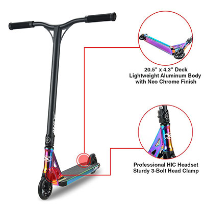 Best Pro Scooters Xspec Complete Pro Stunt Kick Scooter